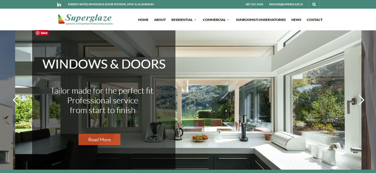 Redesign Superglaze Website