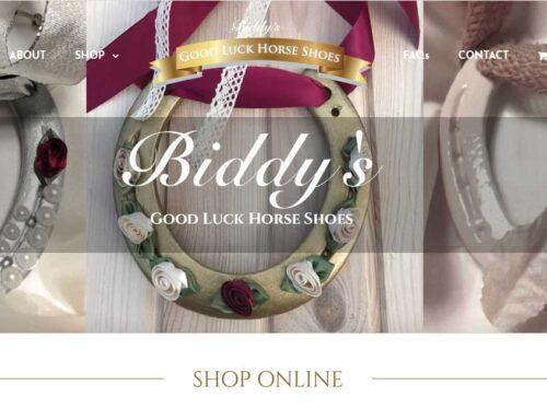 Biddy's Good Luck Horse Shoes Online Shop Launch